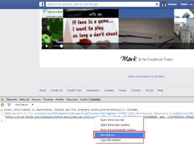 Save Your Facebook Look Back Vidéo