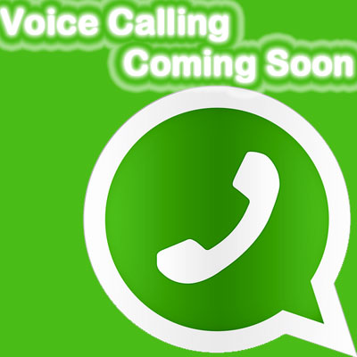 WhatsApp voix appelant Coming Soon