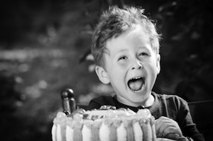 Image of Boy with Cake