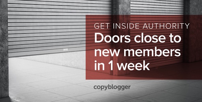 Get Inside Authority - Doors close to new members in 1 week