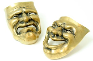 Image of Comedy and Tragedy Theatrical Masks
