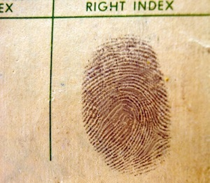 image of fingerprint on paper