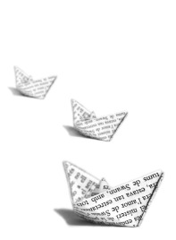 image of paper boats