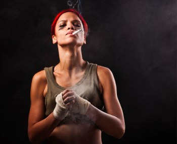 image of a woman boxer
