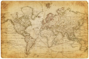 Image of Vintage World Map