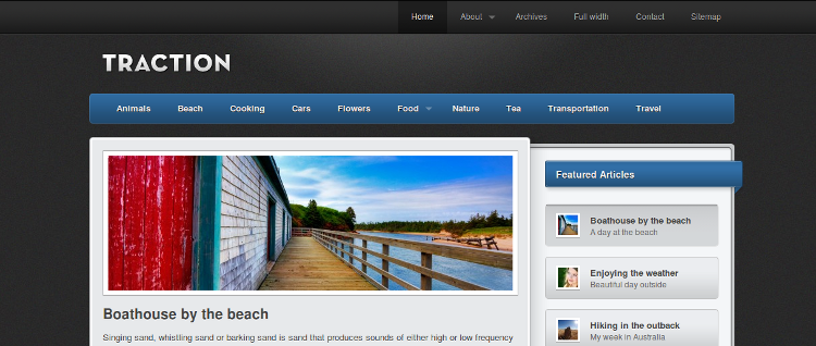 Traction Free WordPress Theme