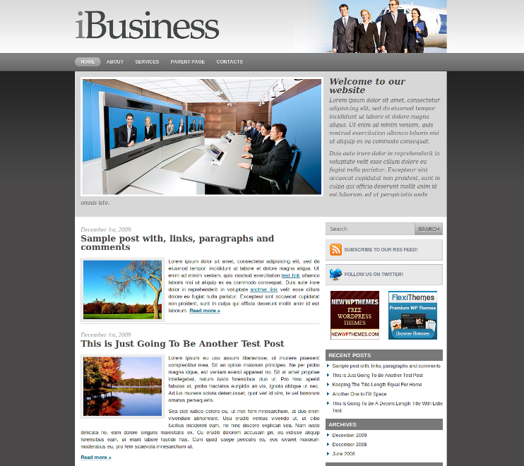 iBusiness Free WordPress Theme