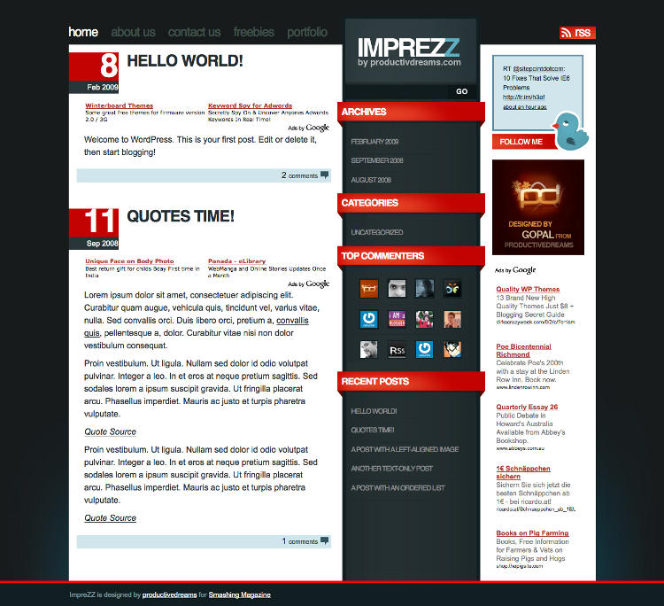 Imprezz Free WordPress Theme