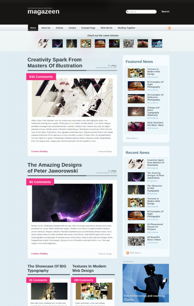 Magazeen Free WordPress Theme