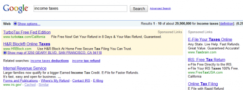 Income Taxes On Google