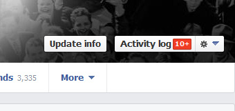 Button Facebook Timeline Activity Log