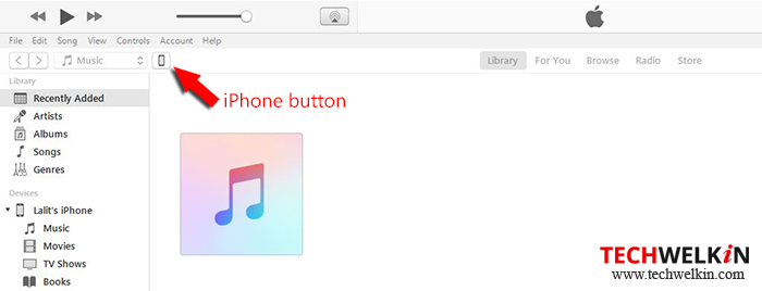 bouton iphone itunes