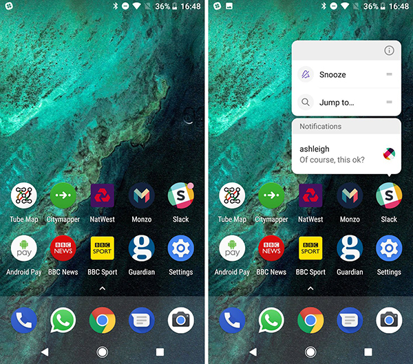 Points de notification Android Oreo